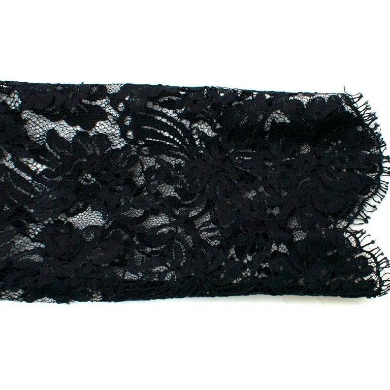 Ermanno Scervino lace-panelled black satin dress IT 44 For Sale 1