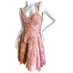 Ermanno Scervino Tie Dye Lace Applique Cocktail Dress with Inner Corset