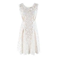 Ermanno Scervino white floral lace dress 42 IT