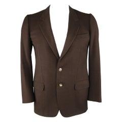 ERMENEGILDO ZEGNA 40 Regular Brown Wool / Cashmere Sport Coat