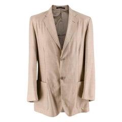 Ermenegildo Zegna Beige Cashmere & Silk Blend Blazer - Size Small - 46R