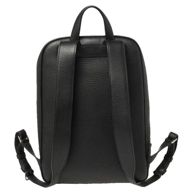 Women's Ermenegildo Zegna Black Grained Leather Backpack