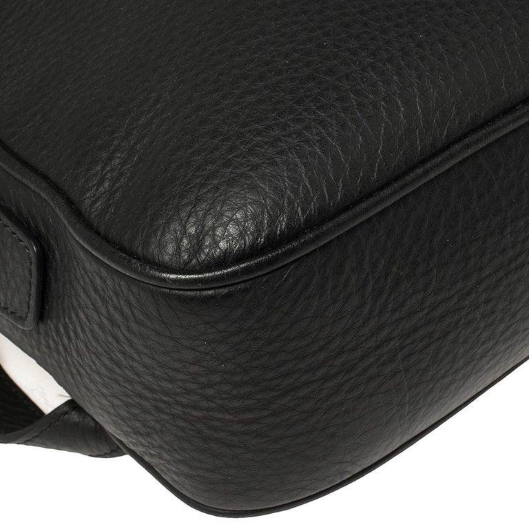 Ermenegildo Zegna Black Grained Leather Backpack 3