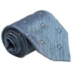 Ermenegildo Zegna Blue Silk Noil Tie