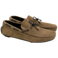 Ermenegildo Zegna Brown Suede Deck Shoes8