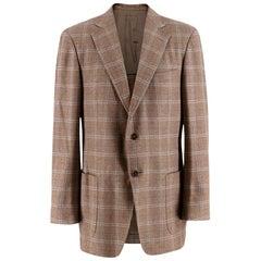Ermenegildo Zegna Checkered Cashmere Blazer - Size EU 50