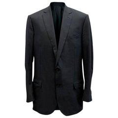Ermenegildo Zegna Men's Blue Check Blazer XXL - IT 58