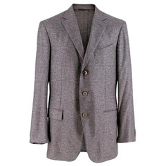 Ermenegildo Zegna Silk & Cashmere Fairway Jacket Size XL - EU R 52