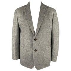 ERMENEGILDO ZEGNA Size 48 Regular Grey Heather Wool / Cashmere Sport Coat