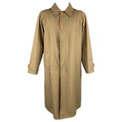 ERMENEGILDO ZEGNA Size L Olive & Black Wool Blend Reversible Coat