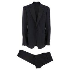 Ermenegildo Zegna Two Piece Black Wool Suit - XL 52R
