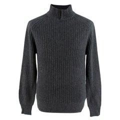 Ermenegildo Zenga Cashmere Blend Grey Sweater - Us size 38