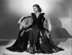 Barbara Stanwyck Posed on Chair Fine Art Print