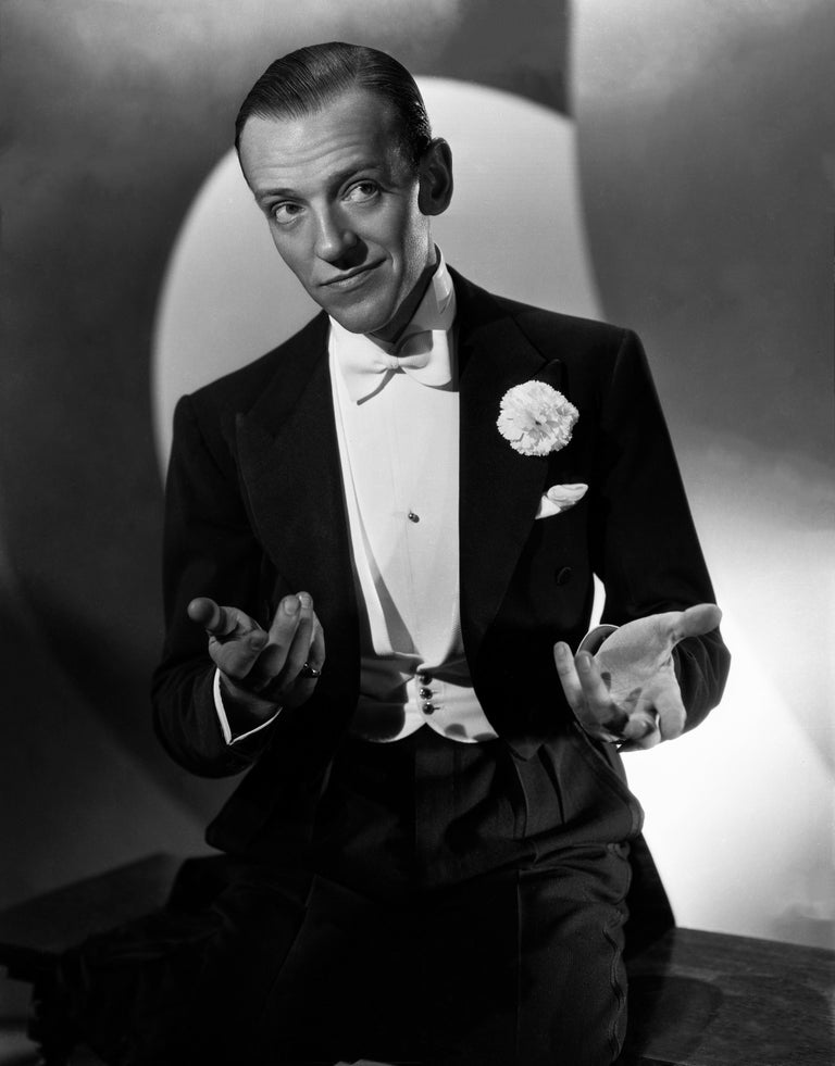 Ernest Bachrach Black and White Photograph - Fred Astaire in Formal Attire III Movie Star News Fine Art Print