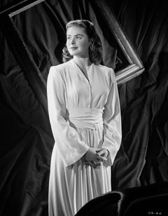 Ingrid Bergman in White Dress Fine Art Print