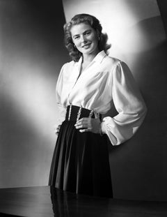 Ingrid Bergman Smiling in Blouse Movie Star News Fine Art Print