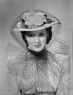 Maureen O'Hara Wearing Rabbit Hat Fine Art Print