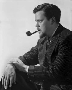 Orson Welles Profile with Pipe Fine Art Print
