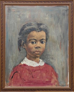 Portrait of a Girl, 1954 Oil Painting by Ernest Crichlow