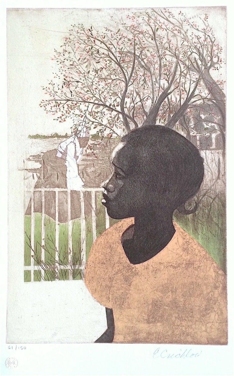 Ernest Crichlow Figurative Print - NEW DREAMS Signed Lithograph, Black History, African American Women
