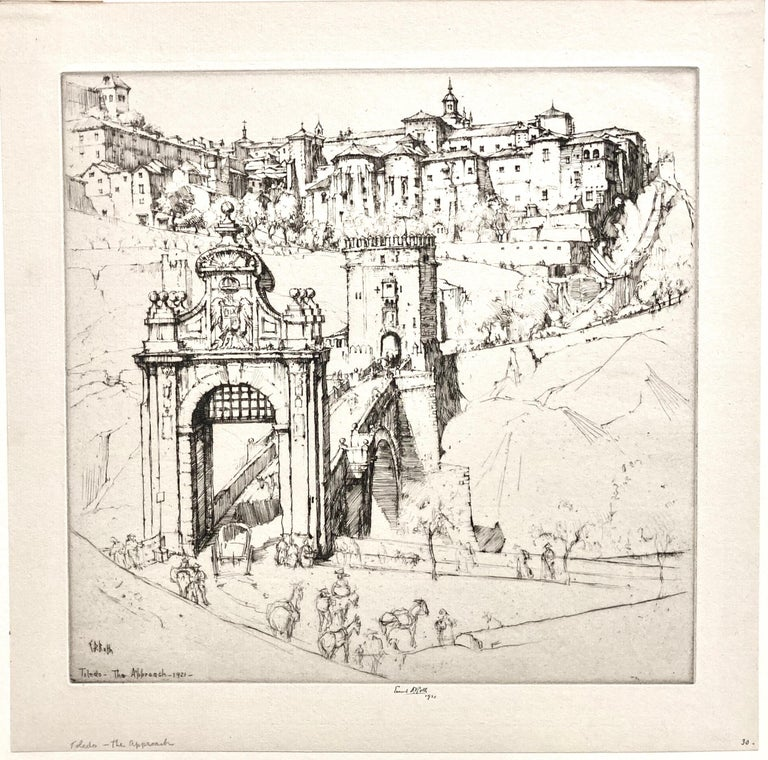 Toledo, The Approach - Print by Ernest David Roth