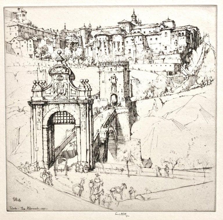 Ernest David Roth Figurative Print - Toledo, The Approach