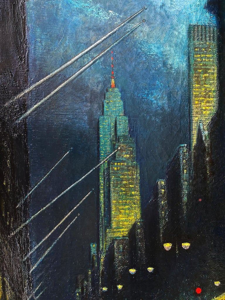 Winter Evening Fifth Avenue - New York at Night For Sale 1