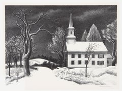 """""""New Snow"""", Signed Lithograph by Ernest Fiene"""