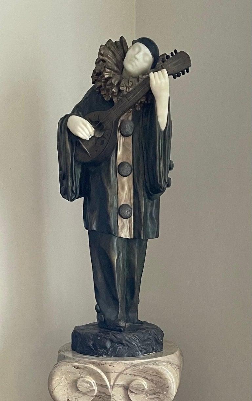 ERNEST GAZAN Figurative Sculpture - Pierrot