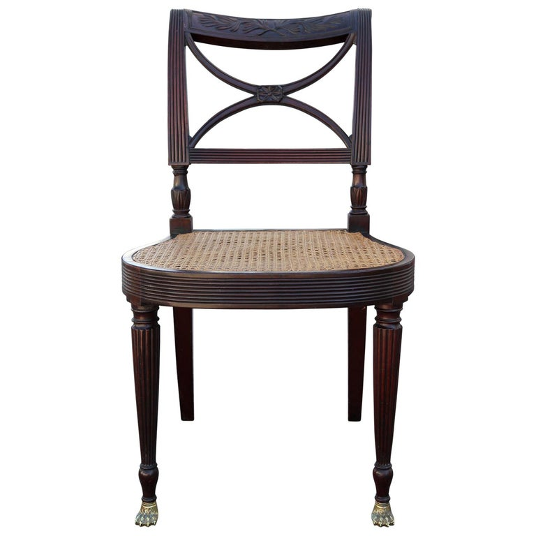 Ernest Hagen Sheraton Duncan Phyfe Style Chair, circa 1895 For Sale
