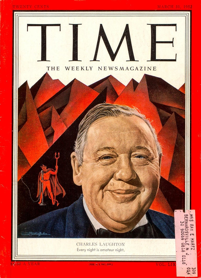 Charles Laughton, Time magazine cover Illustration, March 31, 1952  For Sale 3