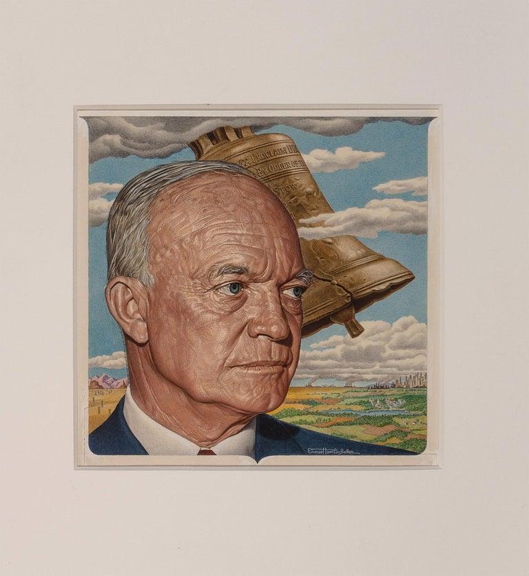 Eisenhower, Time magazine cover Time magazine cover, July 4, 1955 ( alternate) - Painting by Ernest Hamlin Baker