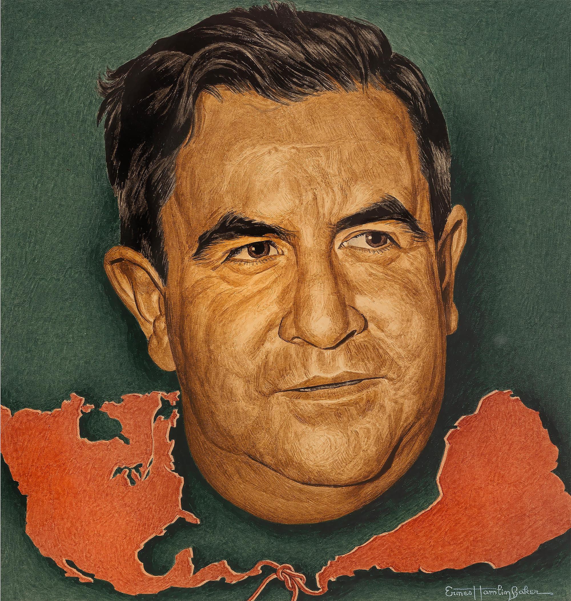 Manuel Avila Camacho, Time magazine cover, - Journalist Portraiture
