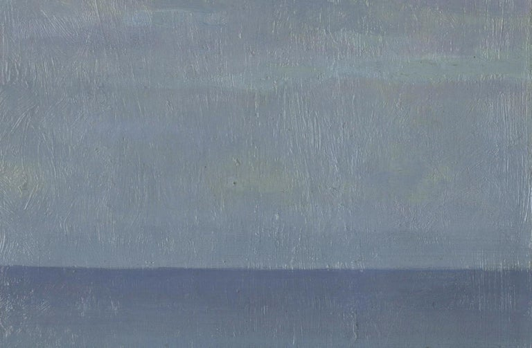 The Calm Sea - Gray Landscape Painting by Ernest Haskell