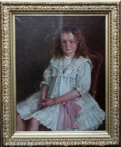 Portrait of a Young Welsh Girl - Enid Richards - British Edwardian Staithes art