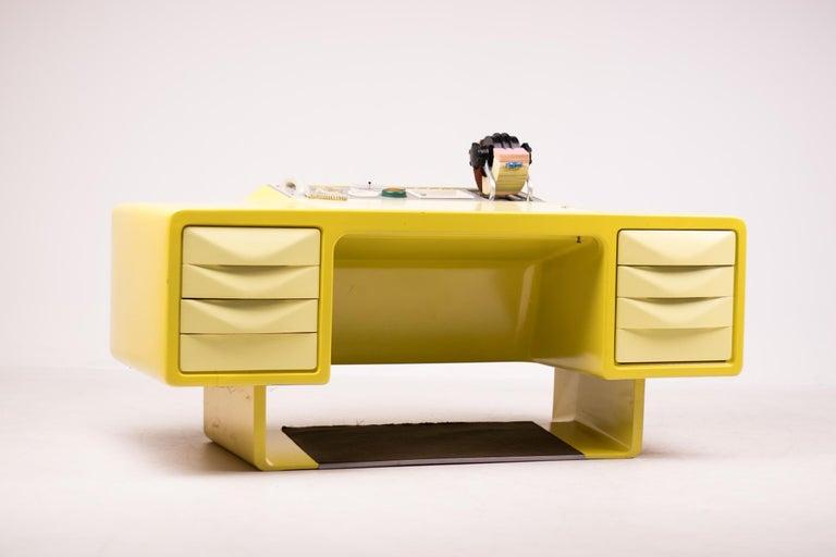 Mid-Century Modern Ernest IGL Design Fiberglass Directors Desk by Wilhelm Werndl For Sale