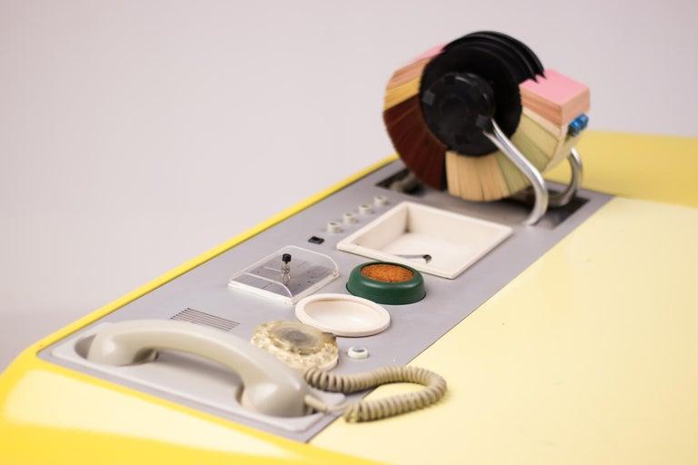 Brushed Ernest IGL Design Fiberglass Directors Desk by Wilhelm Werndl For Sale
