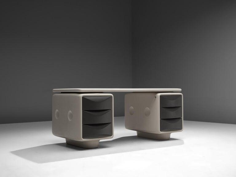 Mid-Century Modern Ernest Igl Futuristic 'Jet' Writing Desk by Ernest Igl For Sale