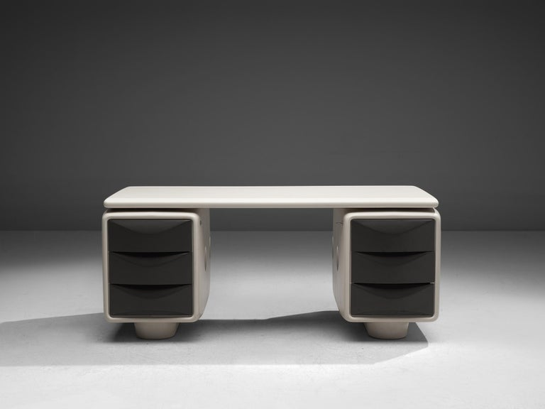 Ernest Igl Futuristic 'Jet' Writing Desk by Ernest Igl In Good Condition For Sale In Waalwijk, NL