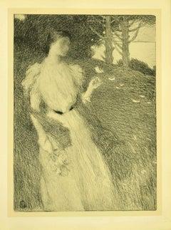 Soir d'Octobre - Original Lithograph by E. Laurent - 1898