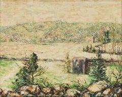 """River in Winter, New York"" Ernest Lawson, American Ashcan Impressionist"