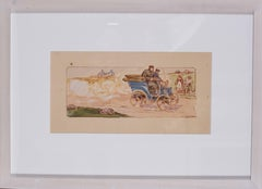 A framed lithograph from '10 ans de courses, les marques victorieuses 1897-1907'