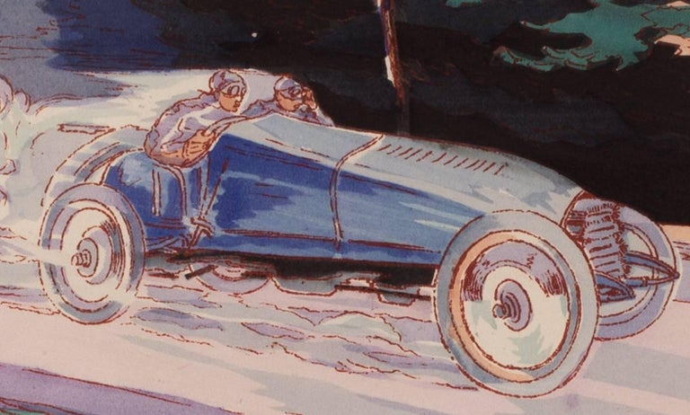 These delightful, rare and original turn of the 20th Century lithographs of classic racing cars are of winners of the most important races of the advent of motor sport. We have 20 examples in total to choose from to make a set. If you are interested