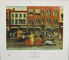 """""""The Fire Engine"""" 1949 New York Graphic Society Print after E. Opper"""