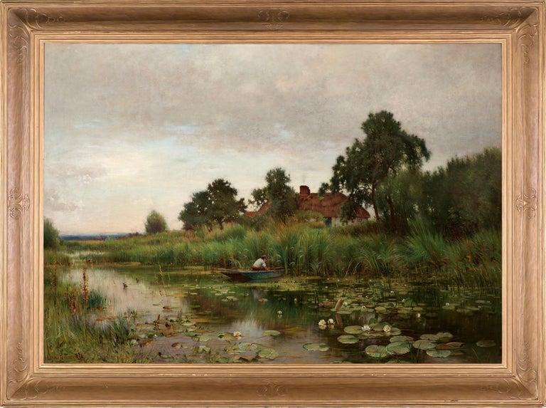 Ernest Parton Landscape Painting - The Lily Pond