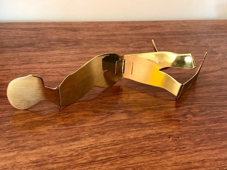 Ernest Trova Brass Folding Man Sculpture For Sale 6