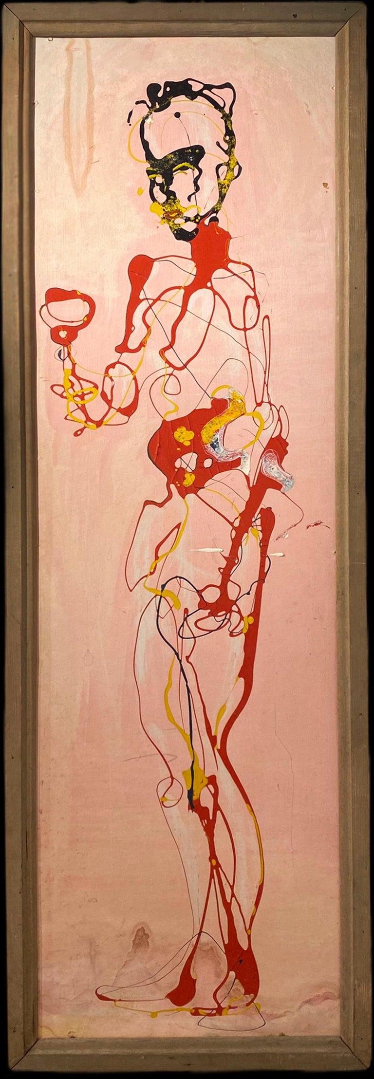 Ernest Trova Figurative Painting - The Last Roman (for the poet, Ezra Pound)