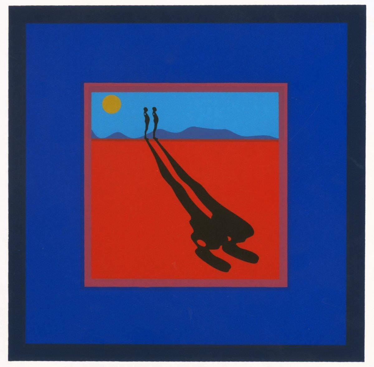 1972 Ernest Trova 'Falling Man' Pop Art Blue,Red USA Serigraph