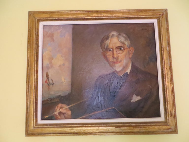 Self-Portrait of Ernest Vauthrin  For Sale 1