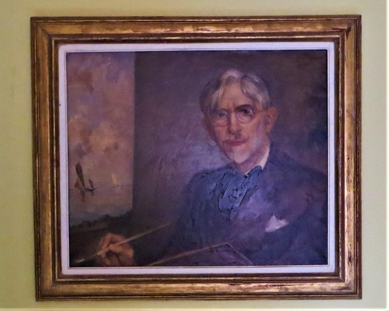 Self-Portrait of Ernest Vauthrin  - Painting by Ernest Vauthrin